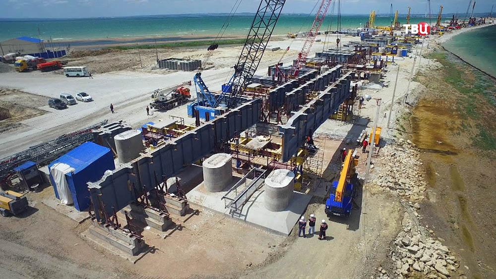 Видео строительства керченского моста в июле 2016